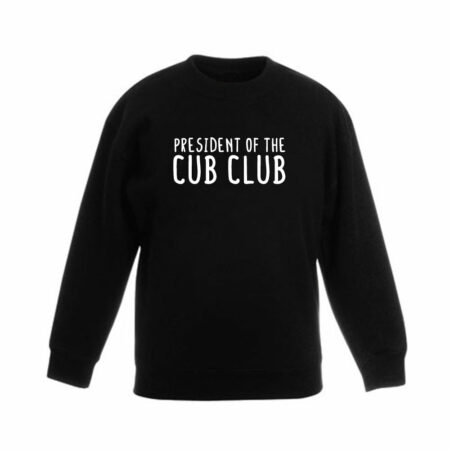 Dames - president of the cub club sweater